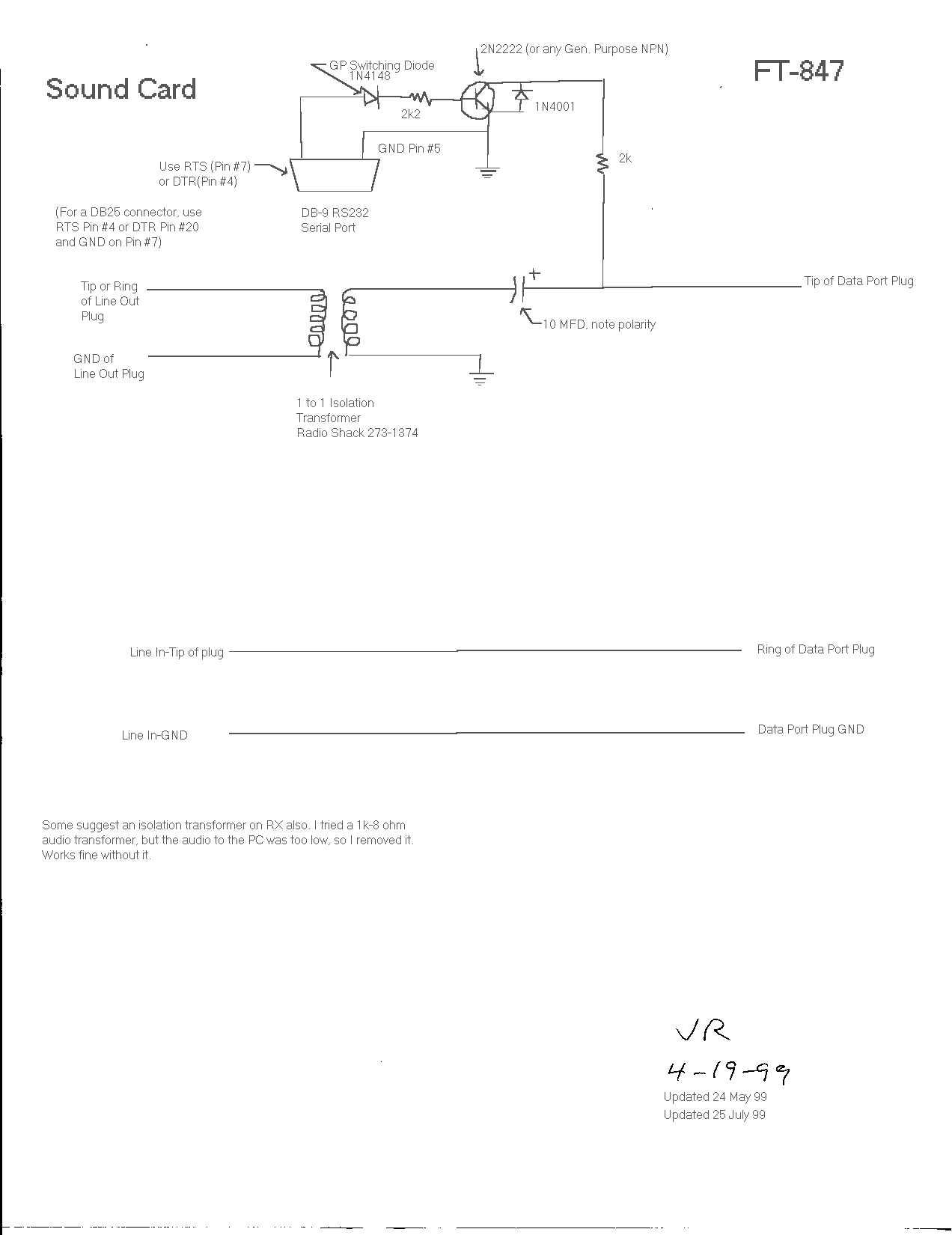 Ft847 To Computer Basic Vox Circuit Controls Ptt Http Supercontrolde Cat Ft847faq Interface